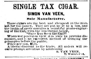 1889-11-02 The Standard p16  Single Tax Cigar  with hystc inside cover